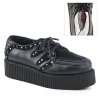 V-CREEPER-535 Black Vegan Leather